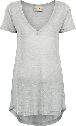 T-Shirt mit V-Ausschnitt - Grau Andrea Bogosian