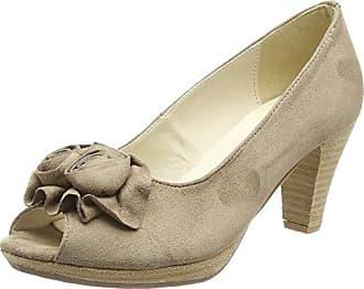 0733109 - Zapatos de tacn con Punta Cerrada de Material Sintético Mujer, Color Verde, Talla 42 EU Hirschkogel