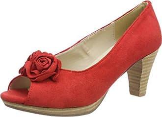 TBS Frimma A7, Zapatos de Tacón con Punta Cerrada para Mujer, Rojo (Rubis), 41 EU