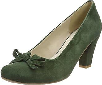 3003413, Zapatos de Tacón con Punta Cerrada para Mujer, Verde (Tanne 147), 35 EU Hirschkogel