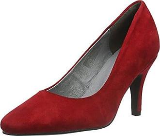 Hirschkogel by Andrea Conti 3000518, Zapatos de Tacón Cerrados, de Material Sintético, para Mujer, Rojo (Rojo 021), Talla 39