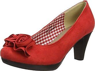 HIRSCHKOGEL 3003422, Zapatos de Tacón con Punta Cerrada para Mujer, Rojo (Rot 021), 40 EU