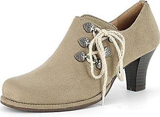 Schuhe Pumps High Heels Echt Leder Taupe 2137, Schuhgröße:37 Andrea Conti