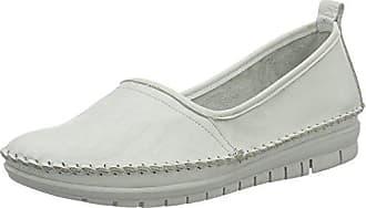 Softinos INI453SOF Smooth, Mocasines para Mujer, Weiß (White), 42 EU