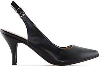 Hohe Damenschuhe in Soft-Schwarz mit Pfennigabsatz und schlanker Spitze.EU 40 3MauE0