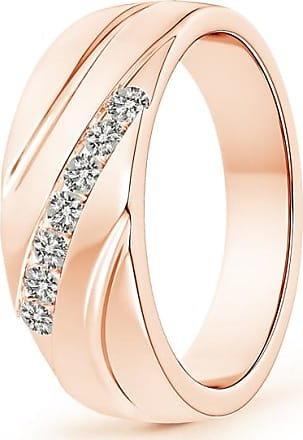 Angara Channel-Set Slanted Diamond 7-Stone Wedding Band for Him OHA1oU