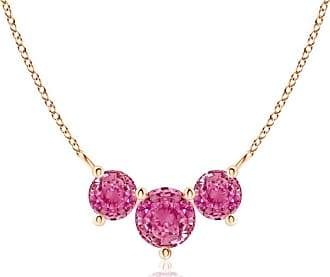 Angara Classic Trio Sapphire Necklace AU7djqV