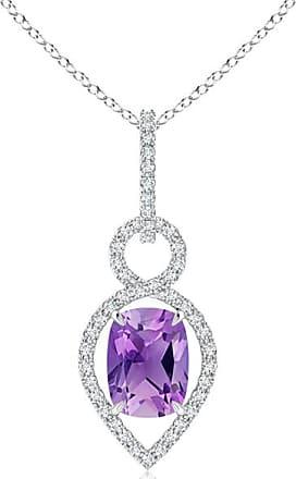 Angara Brown and White Diamond Infinity Pendant - Angaras Coffee Diamond dzac7