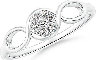 Angara Double Helix Diamond Cluster Promise Ring EZehge9An