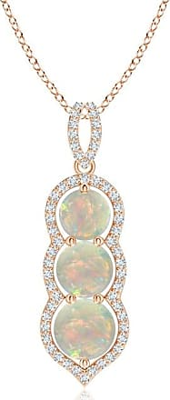 Angara Floating Three Stone Cabochon Opal Journey Dangle Pendant Yellow Gold 42lbJ7Rm8A