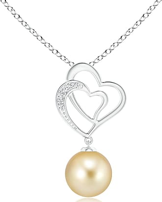 Angara South Sea Cultured Pearl Entwined Heart Pendant hgv4N6Q