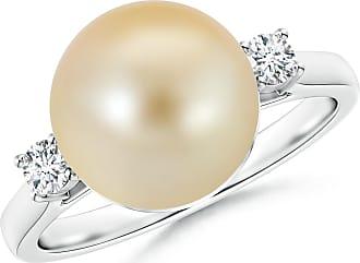 Angara South Sea Cultured Pearl Ring with Diamond Loop Link E5cDb0AzGo