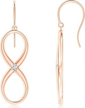 Angara Diamond Infinity Earrings in Rose Gold D3N2DPy6T