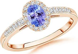 Angara Enhanced Blue Diamond Solitaire Ring With Milgrain Detailing(4.7mm) uMwwDq