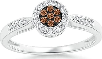 Angara Brown Diamond Cushion Halo Ring in Platinum - Angaras Coffee Diamond L8HXvlxF