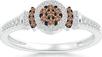 Angara Brown Diamond Cluster Halo Ring in Platinum - Angaras Coffee Diamond jyJp4