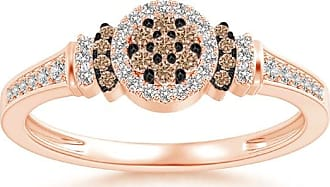 Angara Brown Diamond Collar Engagement Ring in Rose Gold 1Ihbjtc