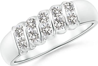 Angara Slanted Bar-Set Diamond Ten Stone Wedding Band p9ZGet96D