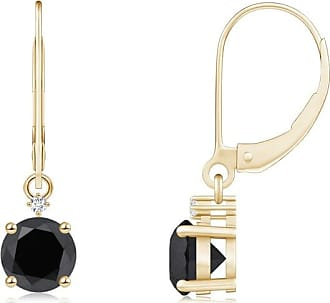 Angara Princess Enhanced Black Diamond 3 Stone Journey Earrings(3.5mm) YulTe7z