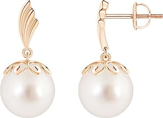 Angara South Sea Cultured Pearl Dangle Earrings with Wing Motif E4oMfby