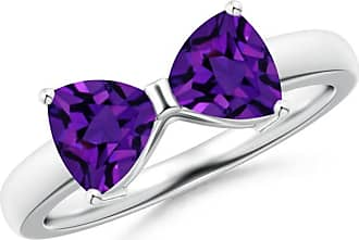 Angara Two Stone Trillion Amethyst Bow Tie Ring Cbj38xSwx