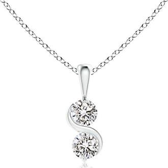 Angara Two Stone Diamond Swirl Pendant 1sXy8Dt3iy