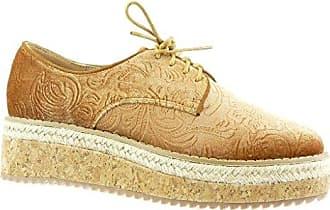 Angkorly Damen Schuhe Derby-Schuh - Schnürsenkel Aus Satin - Kette Blockabsatz 2.5 cm - Rosa F2310 T 36 5atLnIfkvx