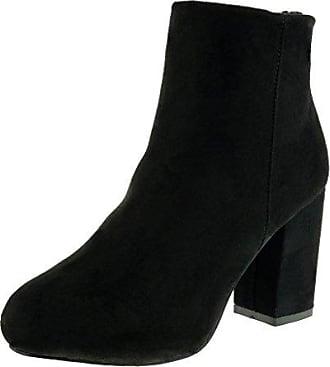 Angkorly Damen Schuhe Stiefeletten - Reitstiefel - Kavalier - Plateauschuhe Blockabsatz High Heel 9 cm - Schwarz LS0266 T 39 4spr9Kwy