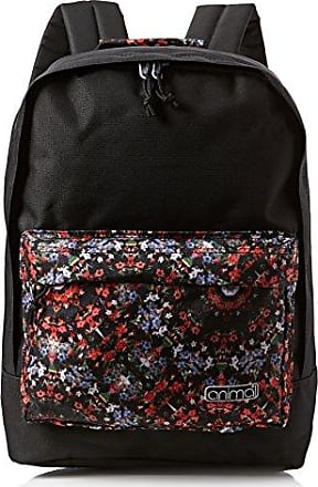 Damen Bright Rucksack, Schwarz (Shadow Black), 18x45x34 cm Animal