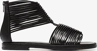 Black 20 multi strap leather sandals Ann Demeulemeester HCIJN5vFxi