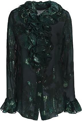 For Cheap Cheap Online Anna Sui Woman Ruffle-trimmed Metallic Silk-blend Fil Coupé Shirt Forest Green Size 4 Anna Sui Cheap Professional Free Shipping Low Price Fee Shipping ZQN5AQ