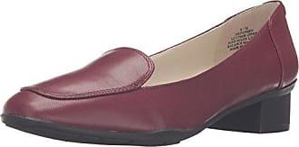 Womens Daneen Leather Slip-on Loafer, Wine, 8 M US Anne Klein