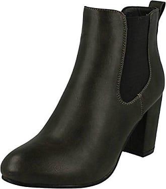 Anne Michelle , Damen Durchgängies Plateau Sandalen mit Keilabsatz , schwarz - schwarz - Größe: 37.5