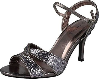 Anne Michelle , Damen Sandalen, Silber - Zinn - Größe: 3 UK