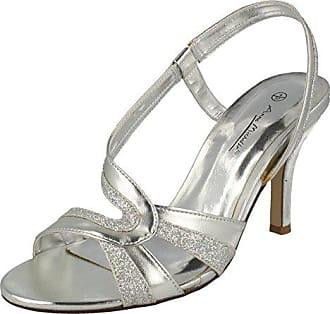 L3389, Damen Sandalen, Silber - silber - Größe: 41.5 Anne Michelle