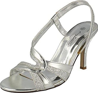 Anne Michelle , Damen Sandalen, Silber - Zinn - Größe: 6 UK