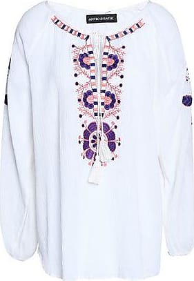 Antik Batik Woman Mimi Embellished Crepe De Chine Top White Size 42 Antik Batik Free Shipping Fashion Style Reliable Sale Online 8Ut61YL