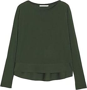 Antonio Berardi Woman Merino Wool And Silk-blend Knitted Top Leaf Green Size 40 Antonio Berardi Clearance Fake Sexy Sport Outlet Sast Cheap Sale Pay With Paypal View Cheap Online MKTFMRv