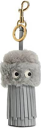 Anya Hindmarch Anya Hindmarch Woman Trigger Leather Keychain Gray Size nflZcEl