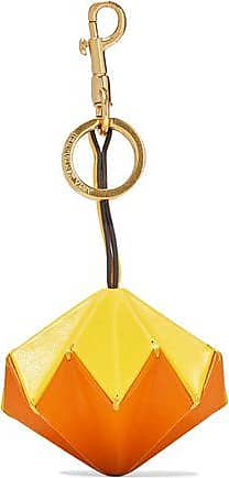 Anya Hindmarch Anya Hindmarch Woman Trigger Pi Color-block Leather Keychain Blue Size UF4Ttw