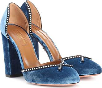 Pumps & High Heels for Women, Blue Ocean, Velvet, 2017, 2.5 3.5 6 Aquazzura