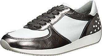 Ara Lissabon, Zapatillas para Mujer, Negro (Schwarz-Silber,Schwarz/Titan 07), 37.5 EU Ara