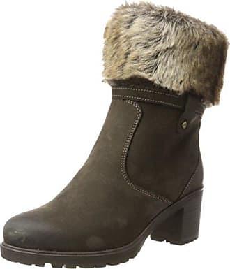 Platform Boot W/Zip JJA15, Zapatillas de Estar Por Casa para Mujer, Marrón-Braun (Brown/22), 38 EU Bianco
