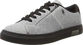 Armani Jeans Sneaker Bassa, Basses Femme - Argent - Silber (Argento)Emporio Armani