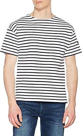 Armor Lux Mariniere Cap COZ, Camiseta para Mujer, Blanco (Blanc/Braise 320), 42 (Talla del Fabricante: 3)