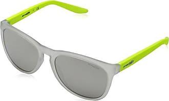Arnette Unisex-Erwachsene Sonnenbrille 0AN4227 23856G, Weiß (Matte Clear/Greymirrorsilver), 57