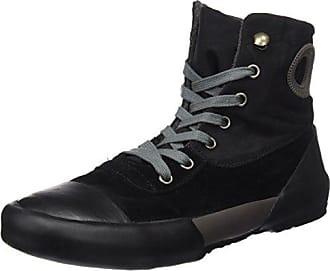 Fiorucci FEAD017, Zapatillas Altas para Mujer, Negro (Nero PU Suede Nero PU Suede), 38 EU