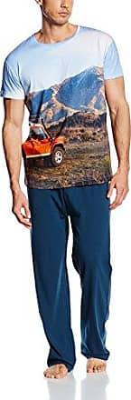 Pyjama M/C, Ropa Interior de Deporte para Hombre, Multicolor (Sky Blue/Blue Orange), S Arthur