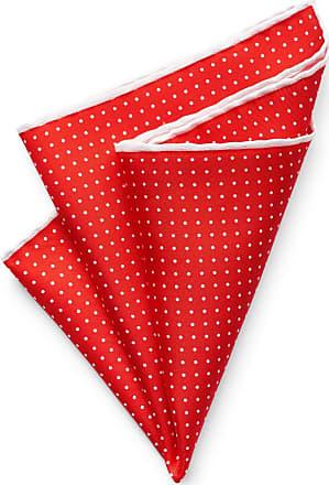 Handkerchief - Orange twill, small white polka dots Notch
