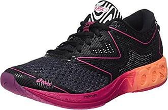 Asics Noosa FF, Chaussures de Running Compétition Femme, Gris (Black/Hot Orange/Pink Peacock), 36 EU